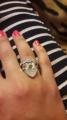 Себеряное кольцо Love
