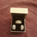Сережки с кристалами Сваровски