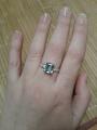 Кольцо с топазом и фианитами♡.