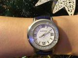 Часы с кварцевым механизмом и фианитами)))