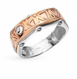 Кольцо с 6 элементами из стали, 1.50 карат  Белое золото, розовое золото  585 пробы. −52% Maxioro 411b86dd277