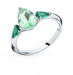 Серебряное кольцо с фианитами SOKOLOV 94012750: белое серебро 925 пробы, фианит — купить в интернет-магазине SUNLIGHT, фото, артикул 91035