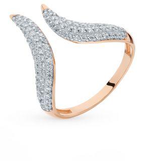 Золотое кольцо с фианитами СОРОКИН 70162200*: красное и розовое золото 585 пробы, фианит — купить в интернет-магазине SUNLIGHT, фото, артикул 90472