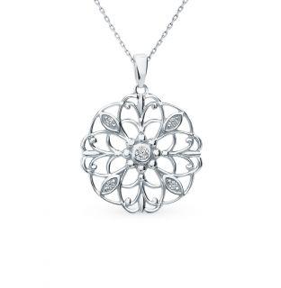 Серебряная подвеска с фианитами SUNLIGHT: белое серебро 925 пробы, фианит — купить в интернет-магазине Санлайт, фото, артикул 92360