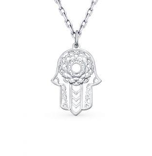 Серебряная подвеска SOKOLOV 94031304: белое серебро 925 пробы — купить в интернет-магазине SUNLIGHT, фото, артикул 74830