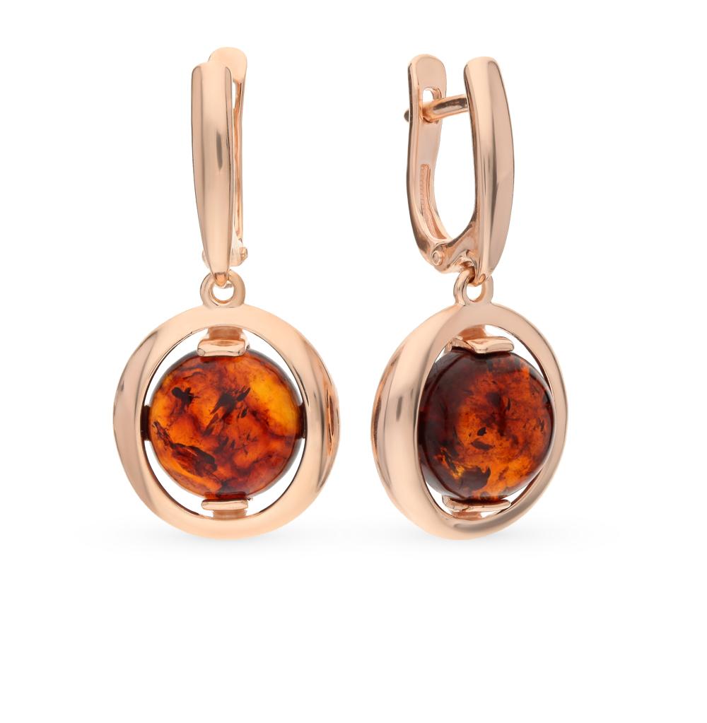 Серебряные серьги с янтарем SOKOLOV 93020622 в Екатеринбурге