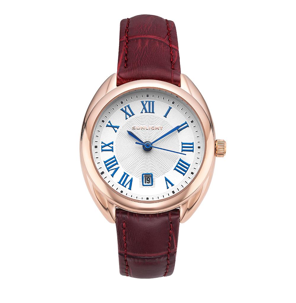 Классические женские часы с римскими цифрами на кожаном ремне в Екатеринбурге