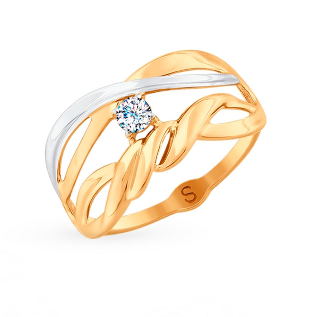 Золотое кольцо с фианитами SOKOLOV 018069* в Санкт-Петербурге