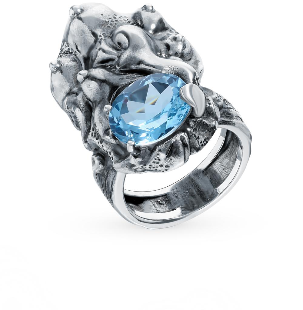 Фото «Серебряное кольцо с топазом «Манипулятор»»