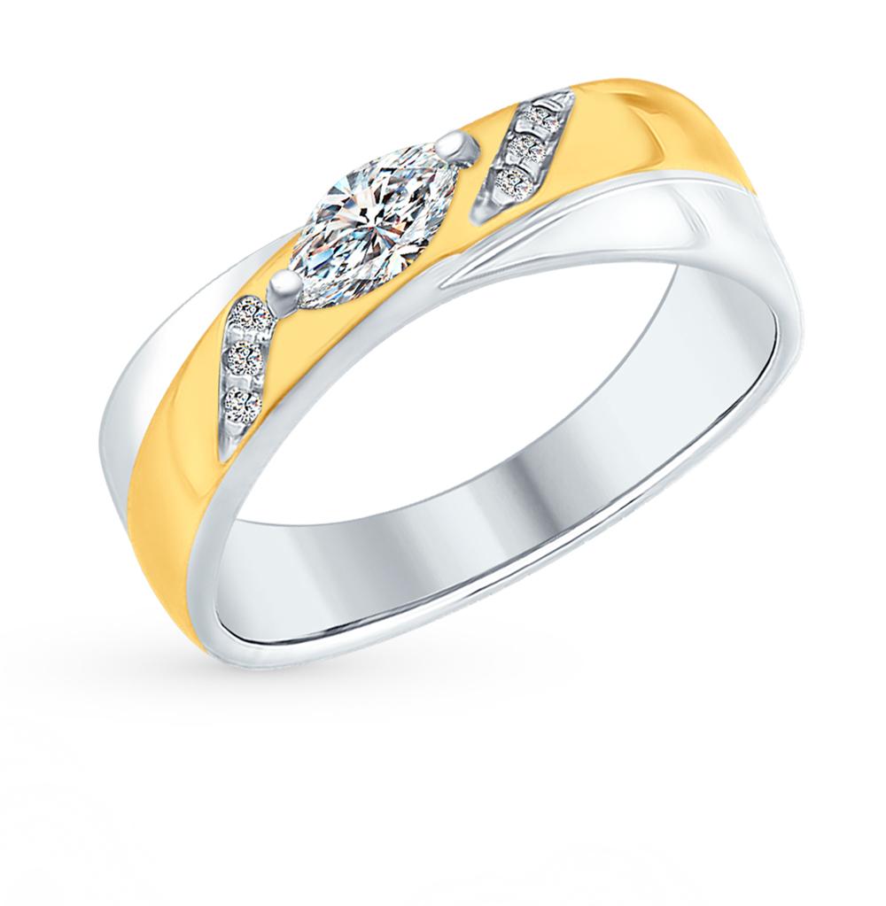 серебряное кольцо с фианитами SOKOLOV 94012381