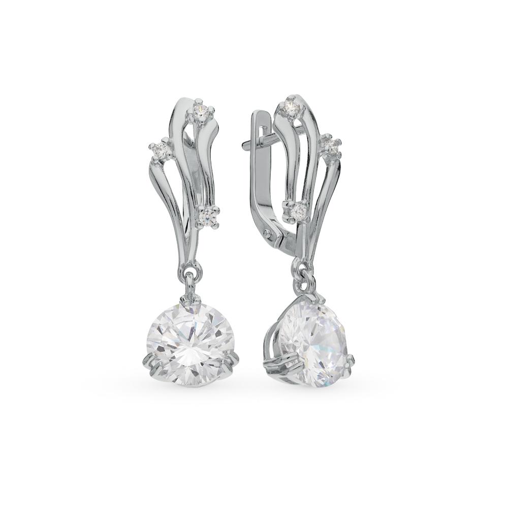 серебряные серьги с фианитами SOKOLOV 94020279