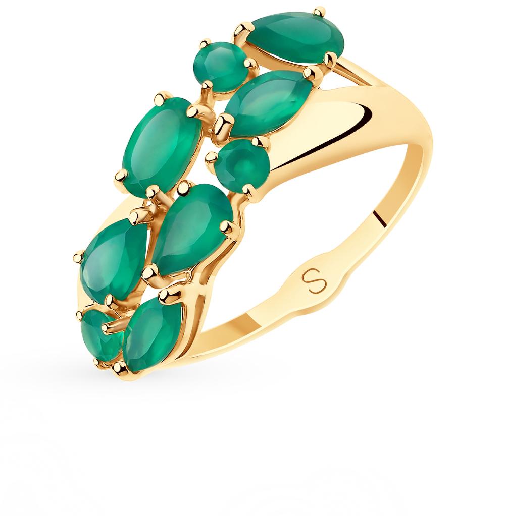 золотое кольцо с агатом SOKOLOV 715634*