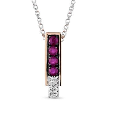 Фото «золотая подвеска с рубинами и бриллиантами»