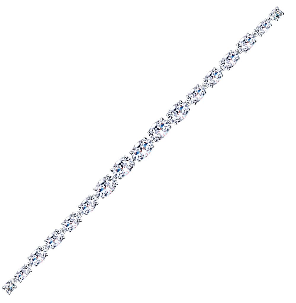серебряный браслет с фианитами SOKOLOV 94050357