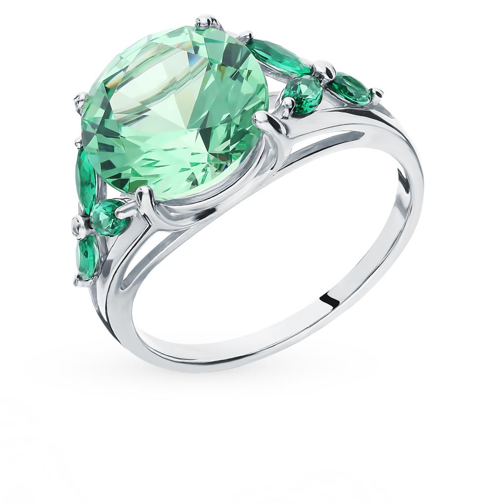 серебряное кольцо с фианитами SOKOLOV 94012798