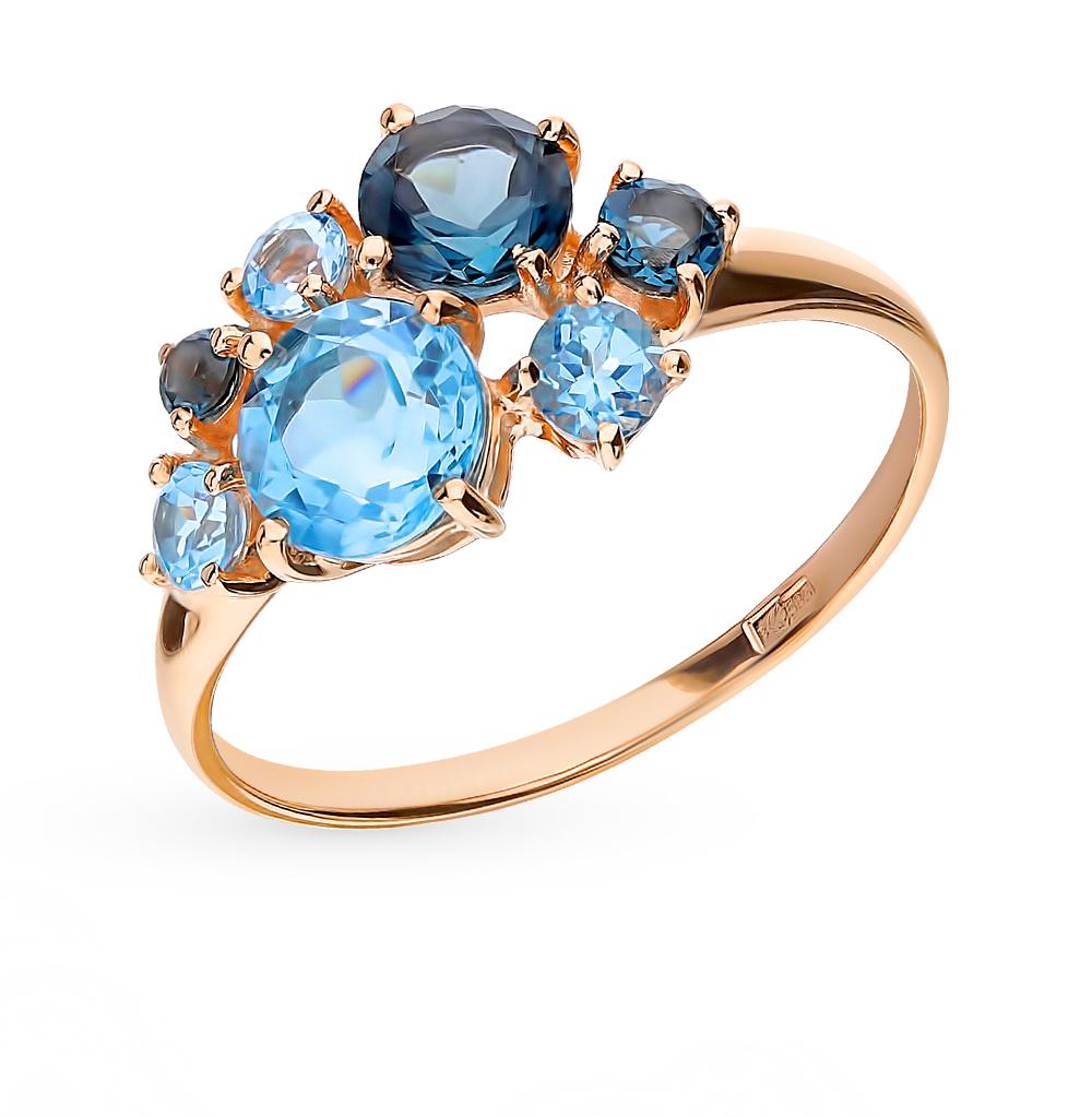 золотое кольцо с топазами SOKOLOV 715003*