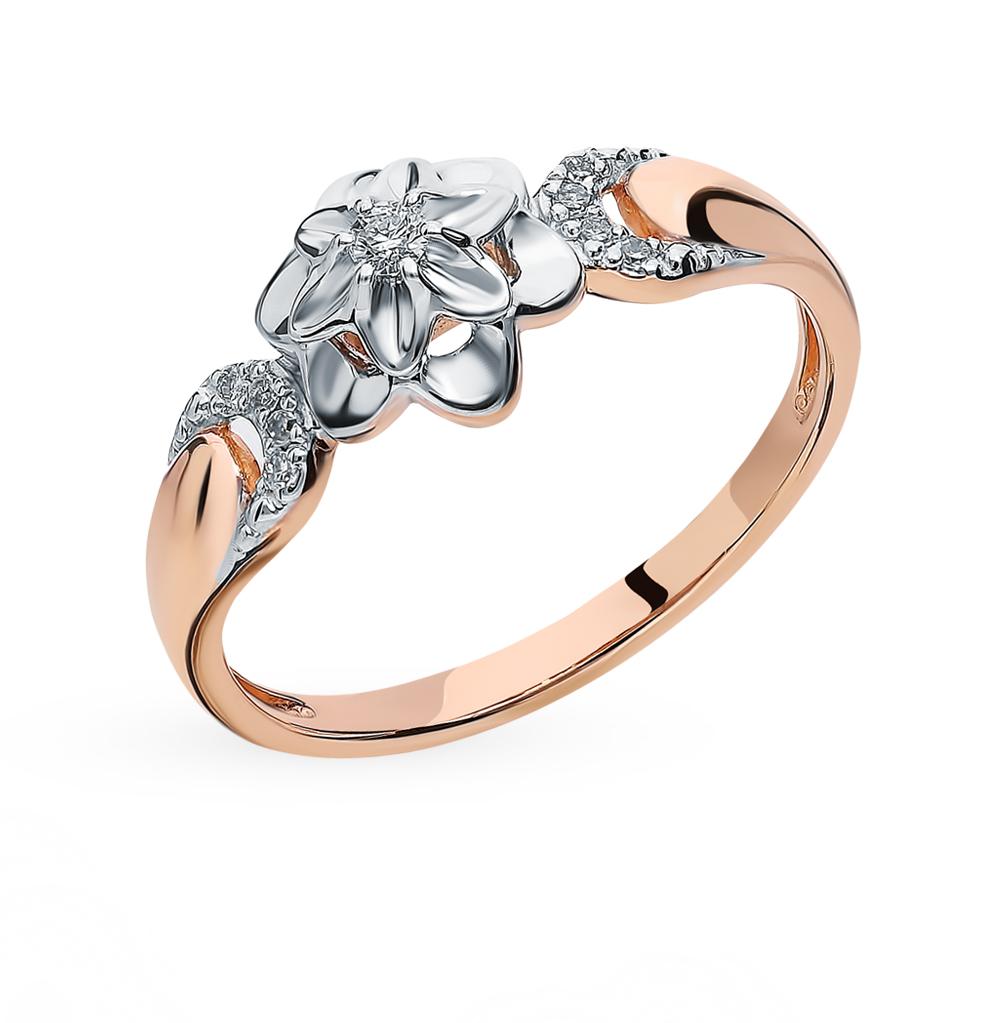золотое кольцо с бриллиантами SOKOLOV 1011405