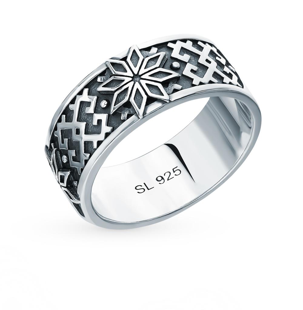 """Серебряное кольцо-оберег """"Алатырь"""""""