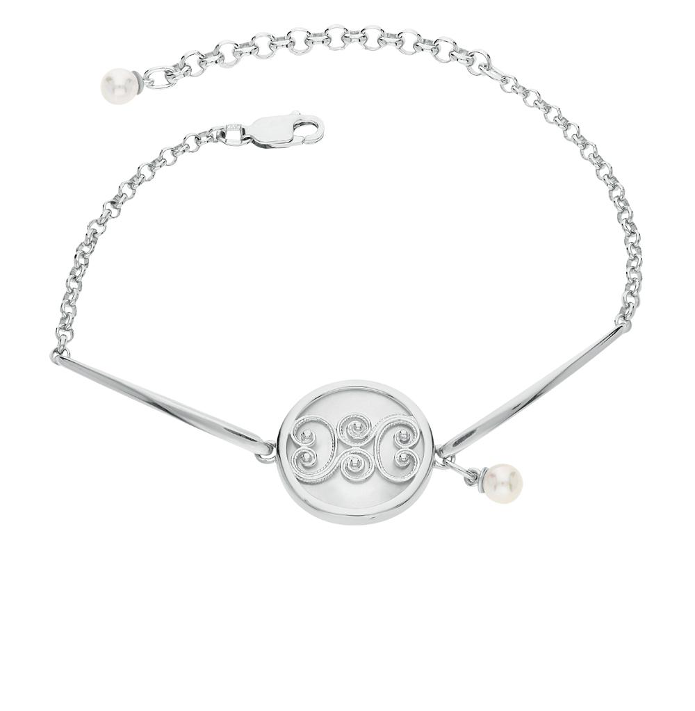 Фото «серебряный браслет с перламутром и жемчугом»
