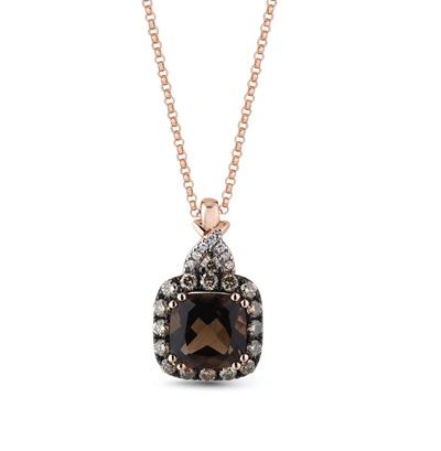 Фото «подвеска с коньячными бриллиантами, раухтопазами (кварцами дымчатый) и бриллиантами»