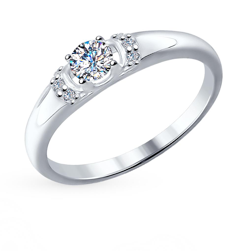 Серебряное кольцо с фианитами SOKOLOV 89010035 в Санкт-Петербурге