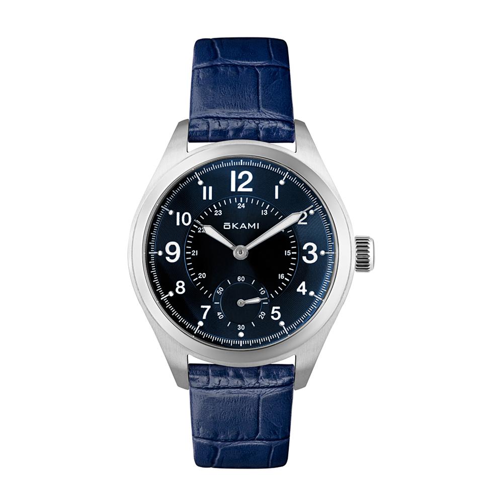 Женские часы на синем ремне из натуральной кожи в Екатеринбурге