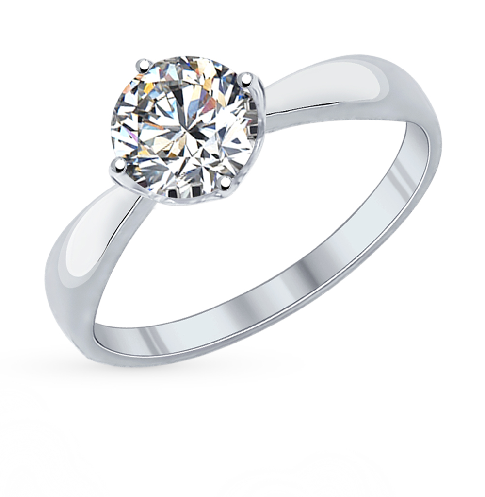 Фото «Серебряное кольцо с фианитами SOKOLOV 89010028»
