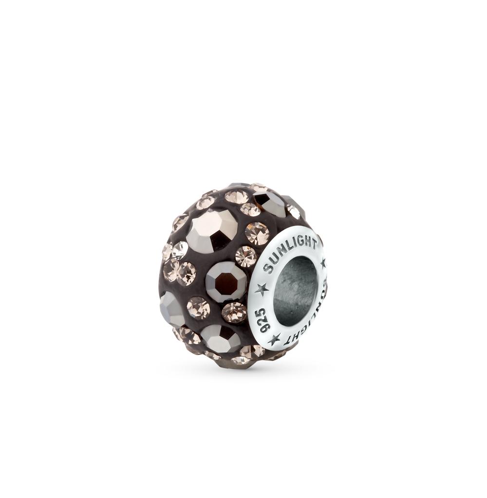 Фото «серебряная подвеска - шарм с кристаллами»