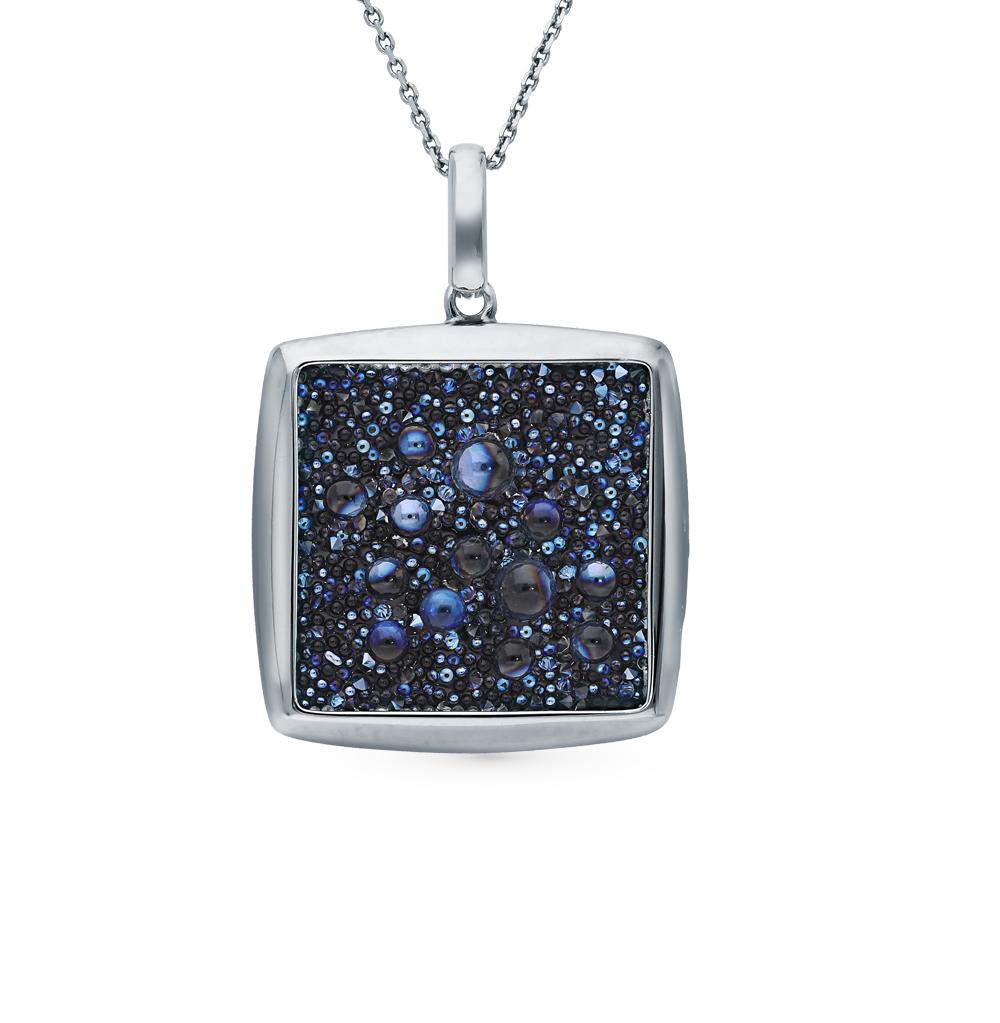 Фото «Серебряная подвеска с кристаллами SOKOLOV 94032481»