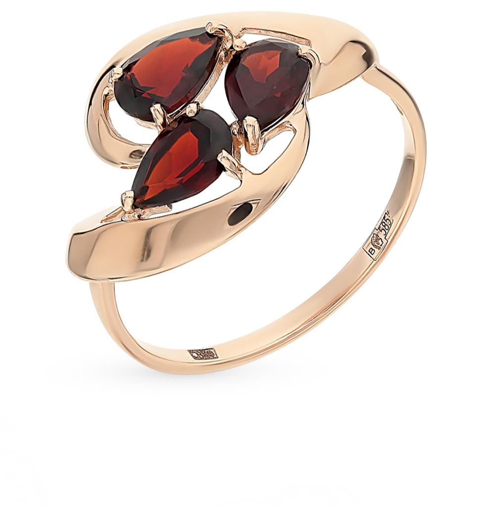 золотое кольцо с гранатом SOKOLOV 714627*
