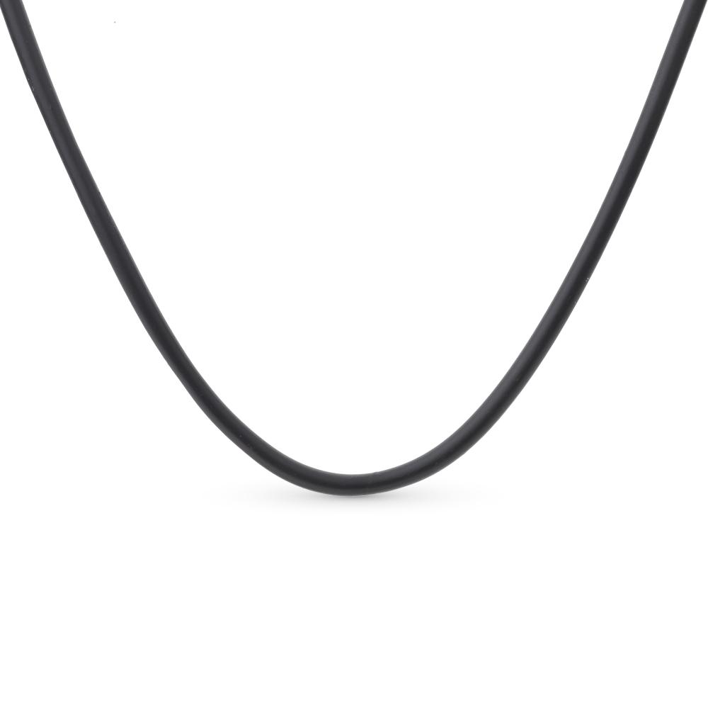 Фото «Каучуковое шейное украшение с серебром»