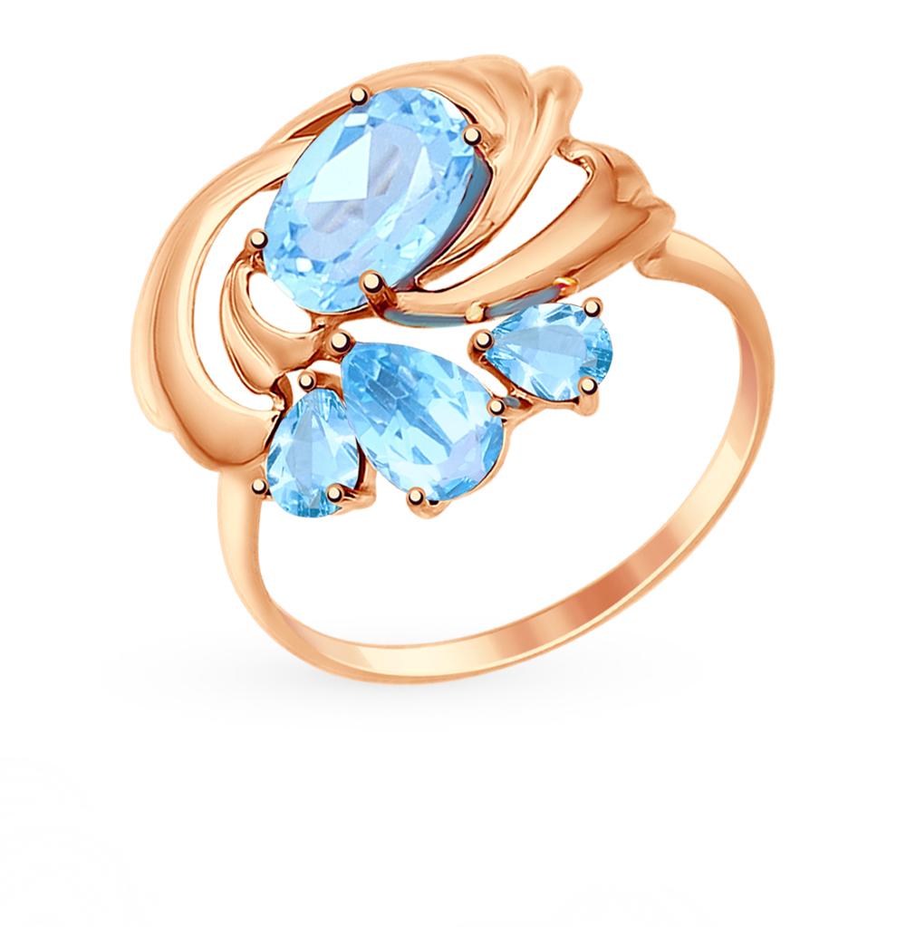 Фото «Золотое кольцо с топазами SOKOLOV 714735*»