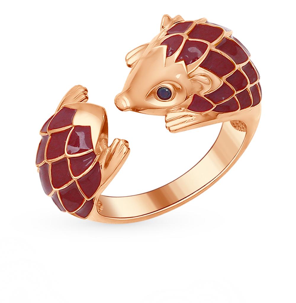 серебряное кольцо с фианитами и эмалью SOKOLOV 93010556