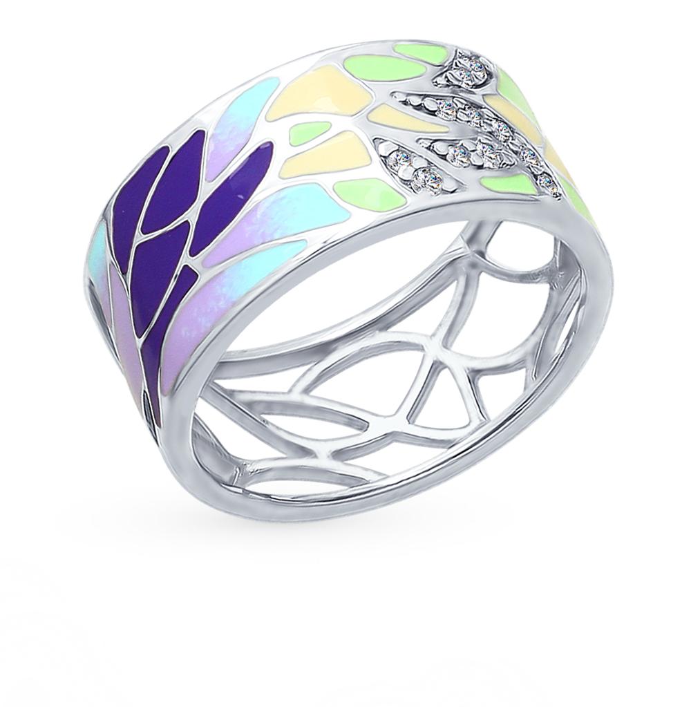 Фото «Серебряное кольцо с фианитами SOKOLOV 94012402»