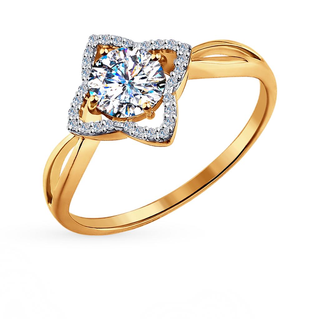 Фото «золото кольцо с фианитами и кристаллами swarovski»