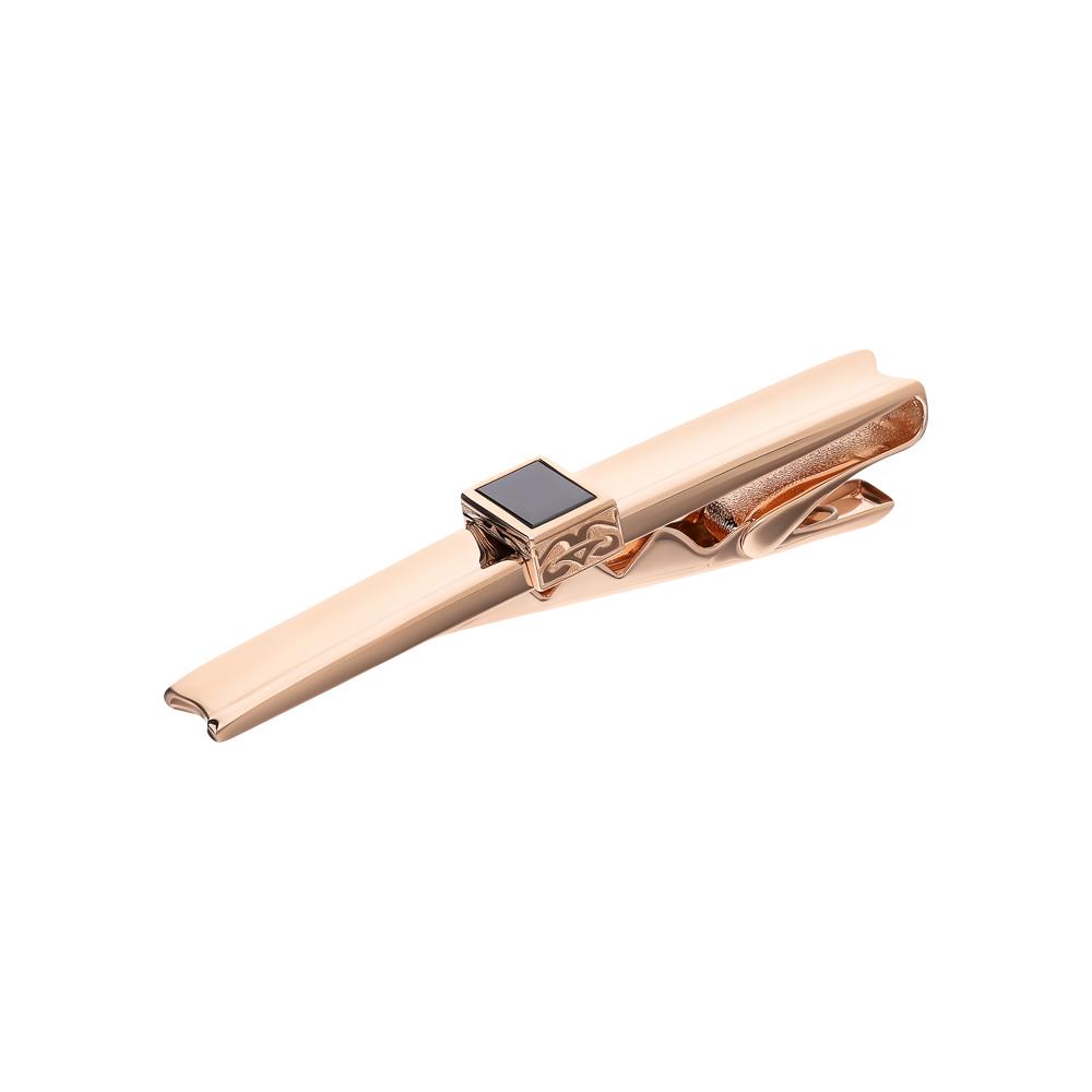 Фото «Золотой зажим для галстука с ониксом»