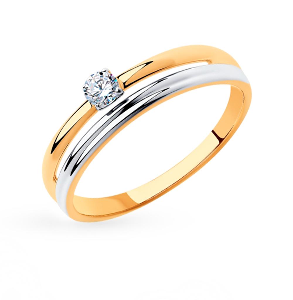 Фото «Золотое кольцо с фианитами SOKOLOV 018314»