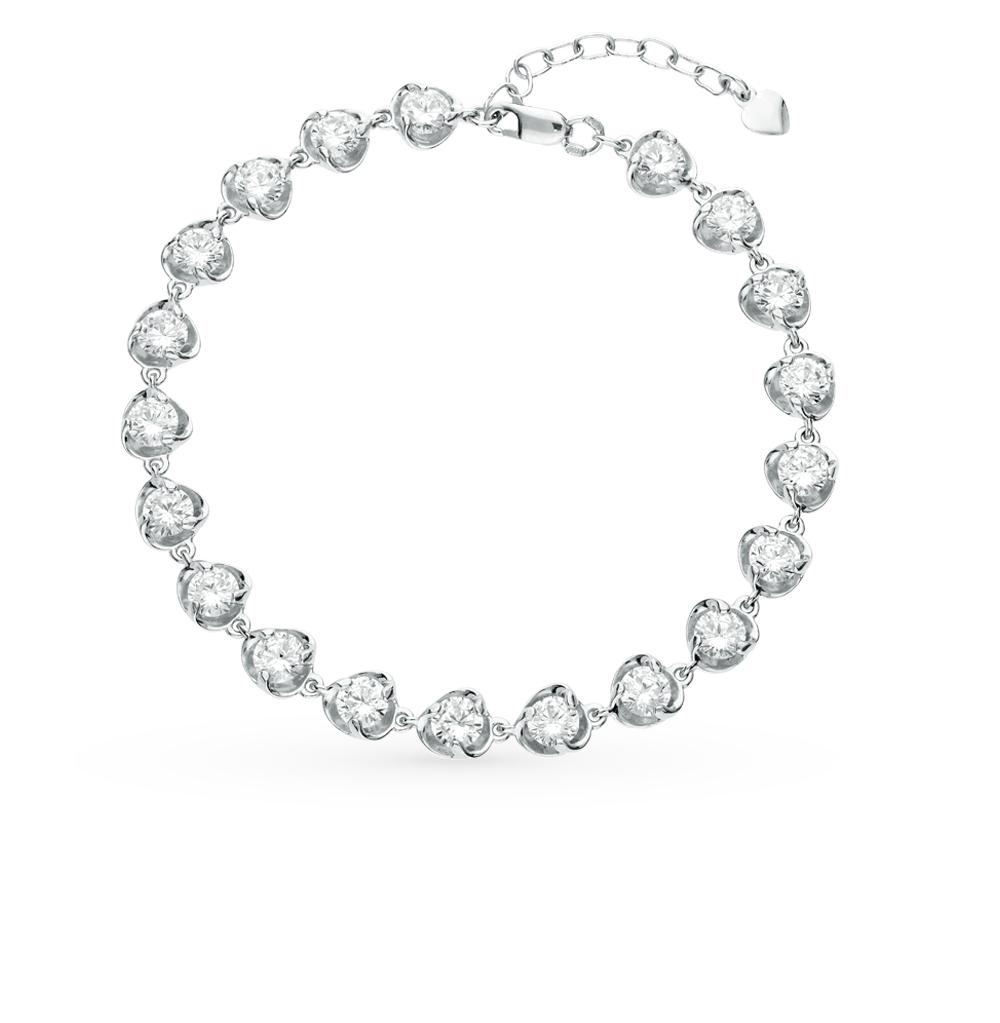 серебряный браслет с фианитами SOKOLOV 94050056
