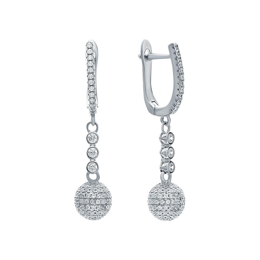 Фото «Серебряные серьги с цирконием»