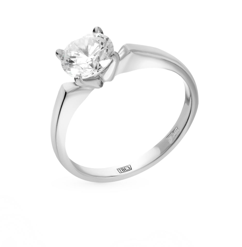 золотое кольцо с фианитами SOKOLOV 014651*