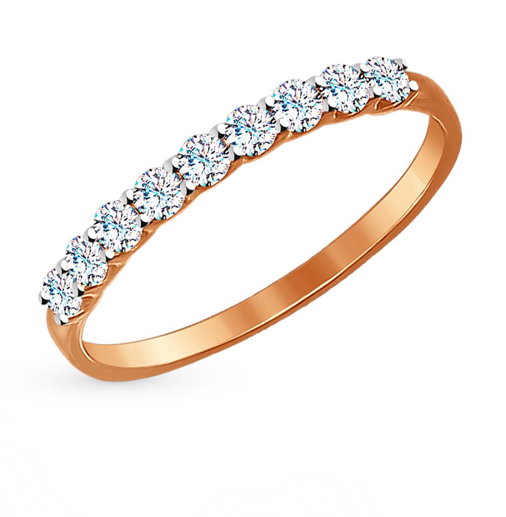 Фото «Золотое кольцо с фианитами SOKOLOV 017169*»
