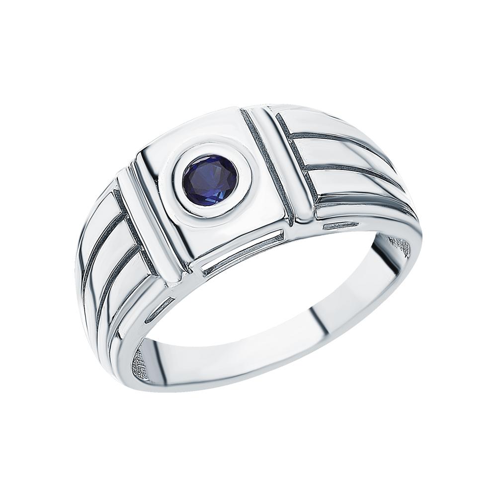 Серебряное кольцо с сапфирами синтетическими в Екатеринбурге