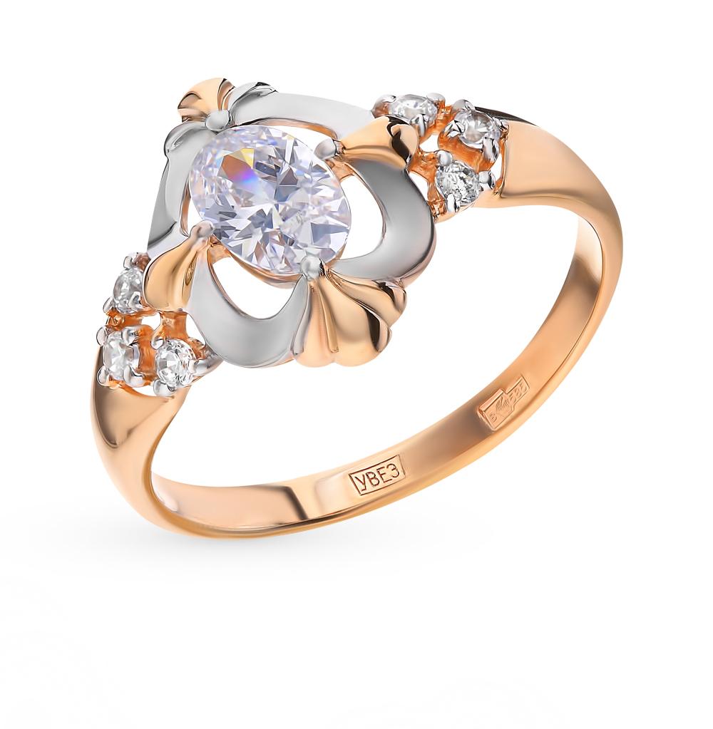 золотое кольцо с фианитами SOKOLOV 017509*