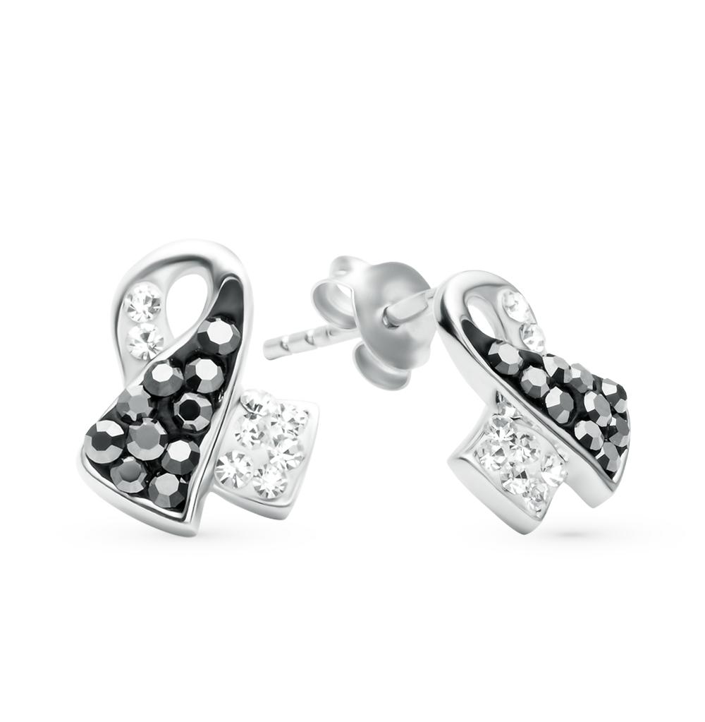 Фото «серебряные серьги с кристаллами и кристаллами swarovski»