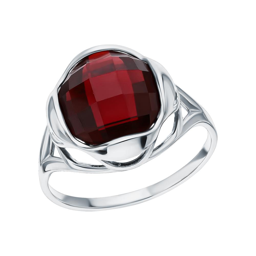 Фото «Серебряное кольцо с гранатами синтетическими»