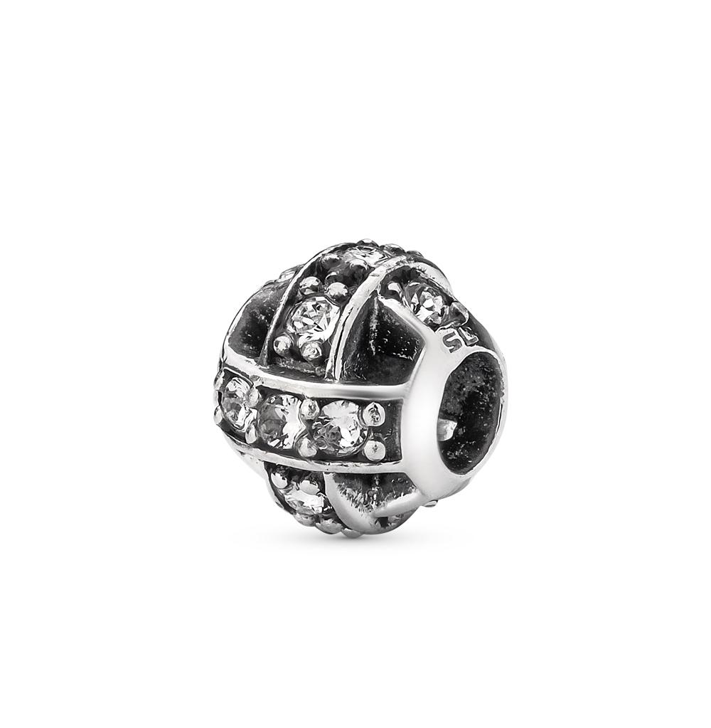 Фото «серебряная подвеска - шарм с кристаллами swarovski»