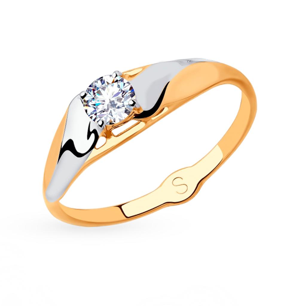 Золотое кольцо с фианитами SOKOLOV 018068* в Екатеринбурге