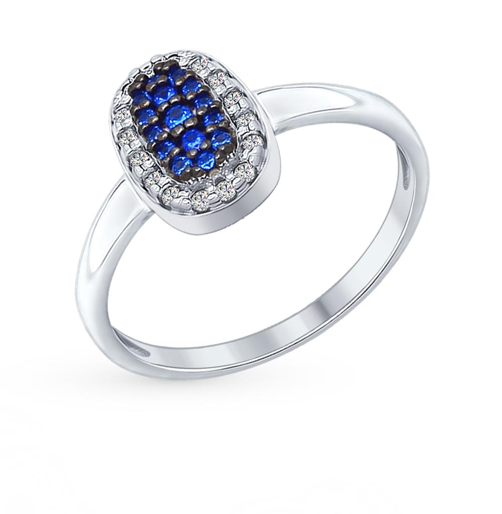 серебряное кольцо с фианитами SOKOLOV 94012197