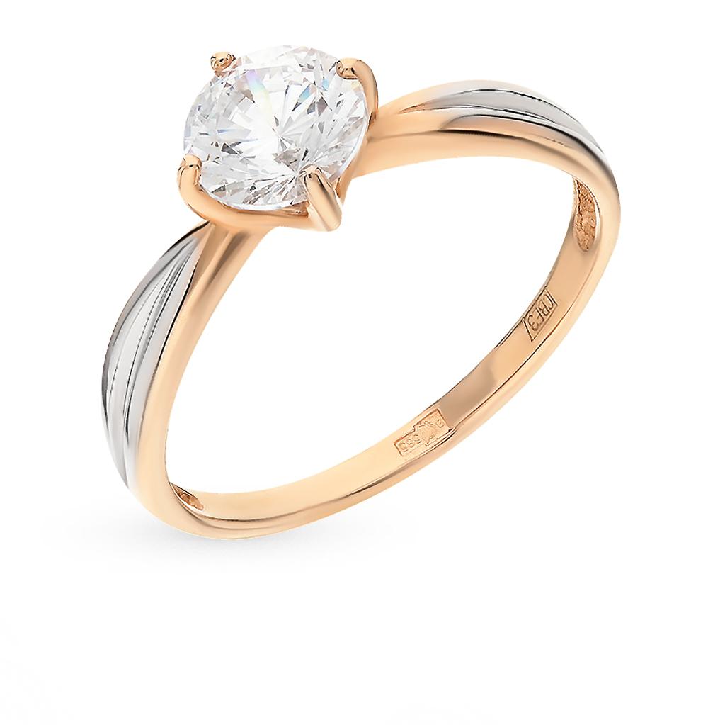 золотое кольцо с фианитами SOKOLOV 81010175*