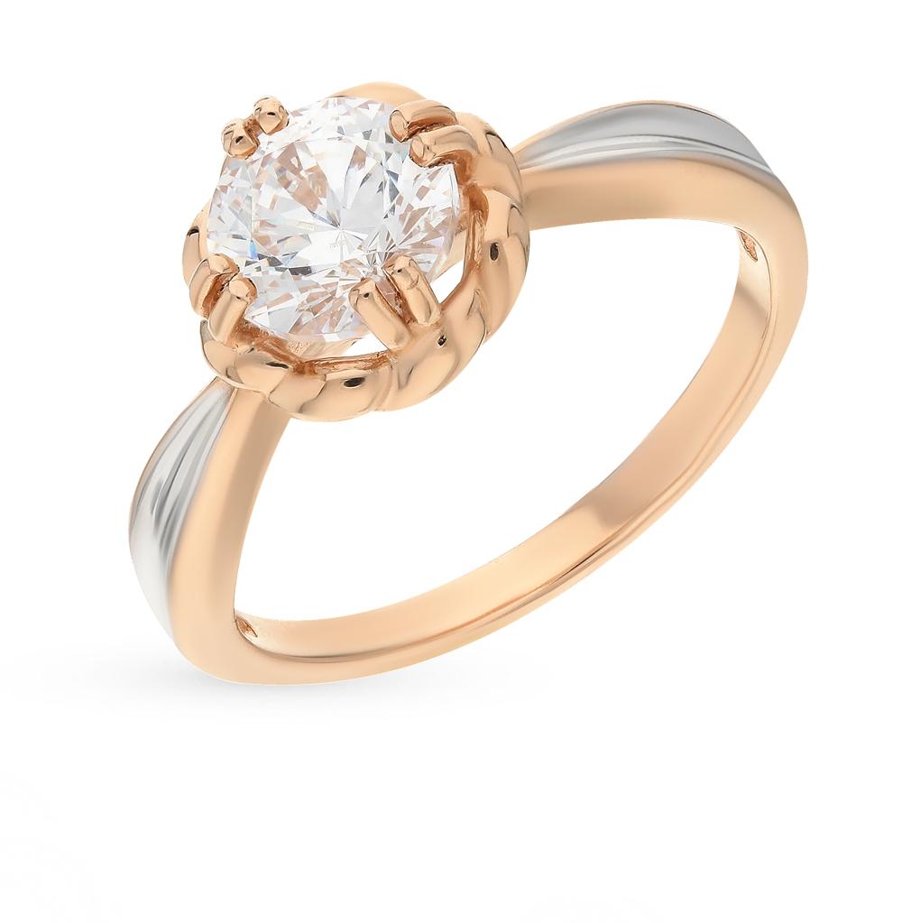 золотое кольцо с фианитами SOKOLOV 81010166*
